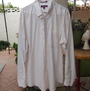 NORDSTROM DRESS SHIRT, WRINKLE FREE SMARTCARE XL
